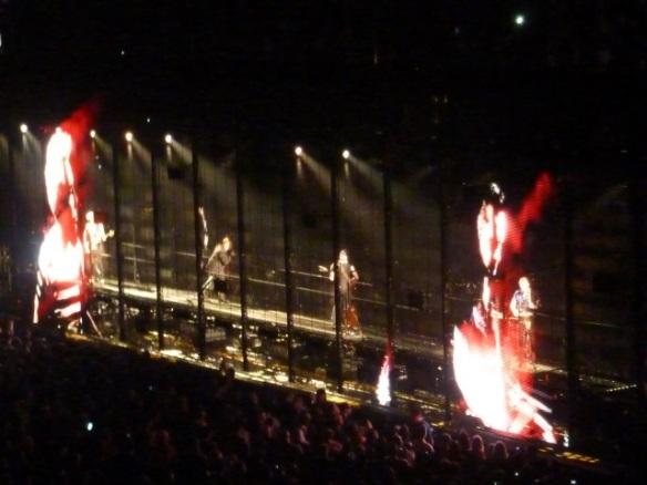 U2 inside screen