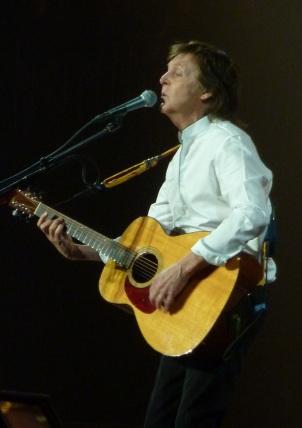Paul McCartney on acoustic
