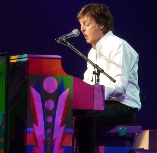 Paul McCartney on piano