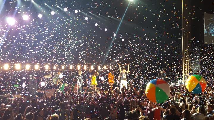 Confetti drop for Duran Duran in Palm Springs