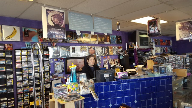 Inside of Harvest Music record store