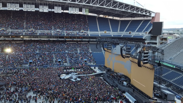 Stage shot for U2 prior to showtime
