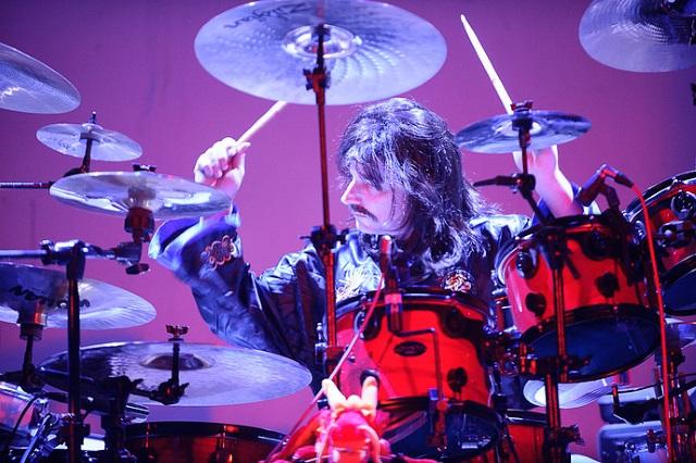 Adam Pliss plays drums for Mystic Rhythms
