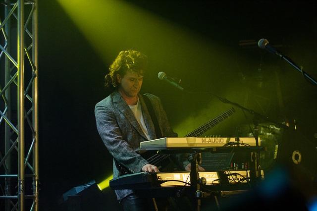Paul Armento plays keyboards for Mystic Rhythms