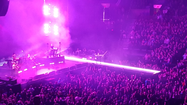 Stage shot of Depeche Mode in Portland
