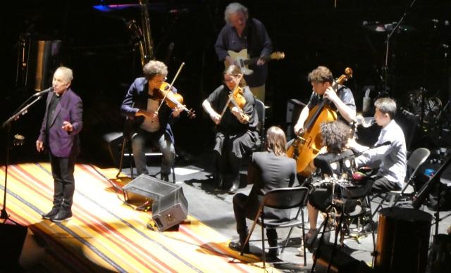 Paul Simon and his band