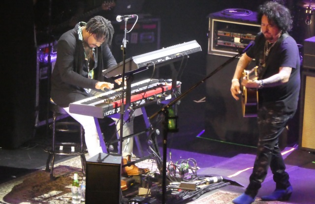 Steve Lukather and Dominique Talpin with Toto