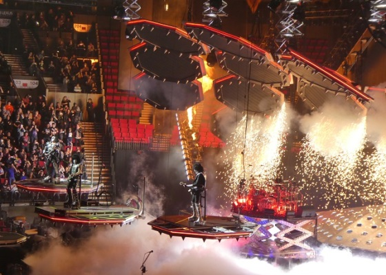 KISS on stage in Portland, OR