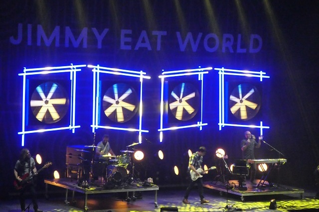 Jimmy Eat World on stage at Theater of the Clouds