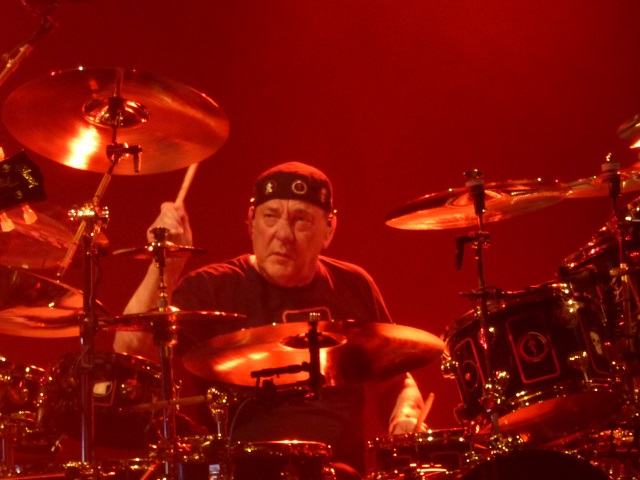 Niel Peart of Rush on the drums
