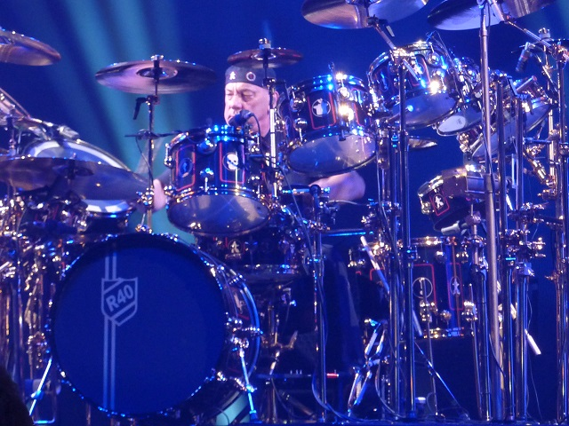 Neil Peart of Rush on the drums