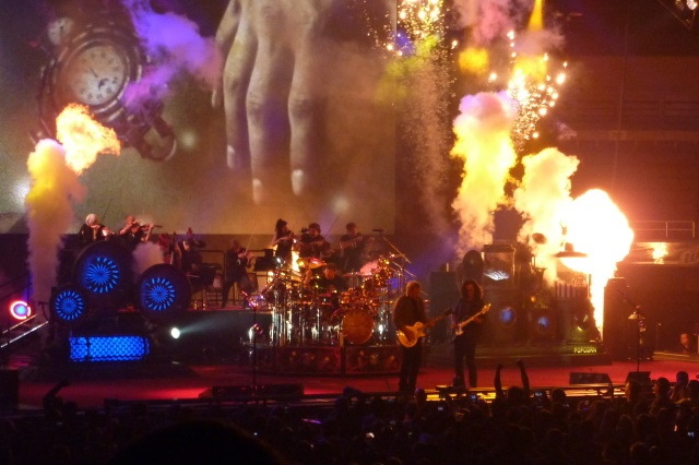 Rush on Stage During Clockwork Angels Tour