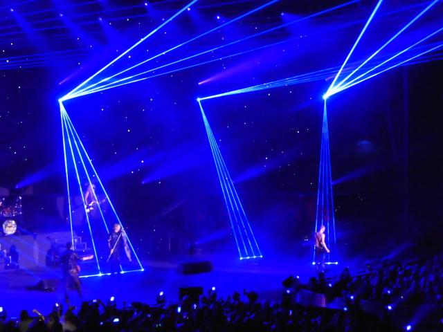 Def Leppard on stage in Las Vegas