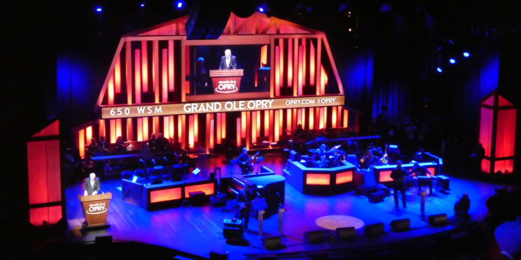 Stage view of the Grand Ole Opry