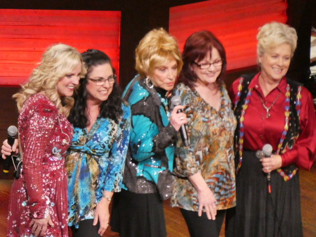 Rhonda Vincent celebrating her nomination to the Grand Ole Opry