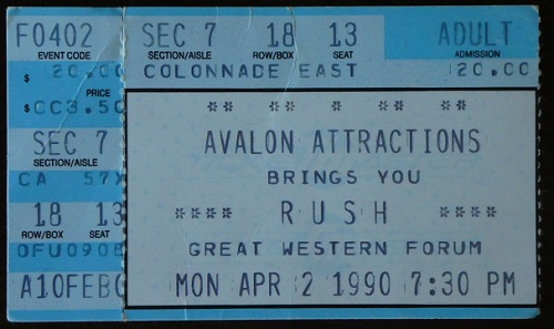 Rush Presto Tour Ticket