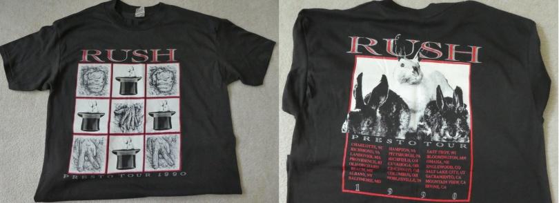 Rush shirt from Presto Tour