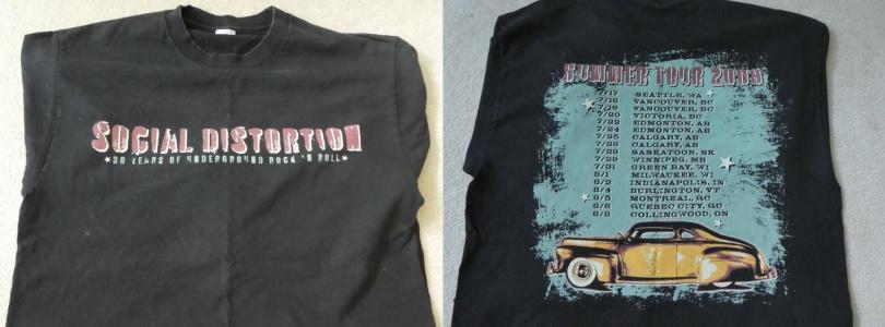 Social Distortion shirt from 2009 Summer Tour
