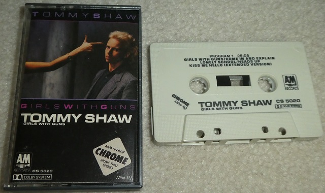 Tommy Shaw Girls With Guns cassette tape