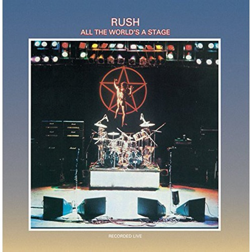 Rush All the World's a Stage album artwork