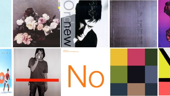 New Order Studio Album Covers for Best Songs List