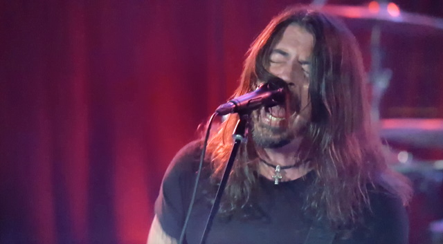 Dave Grohl of Foo Fighters during The Roxy livestream concert