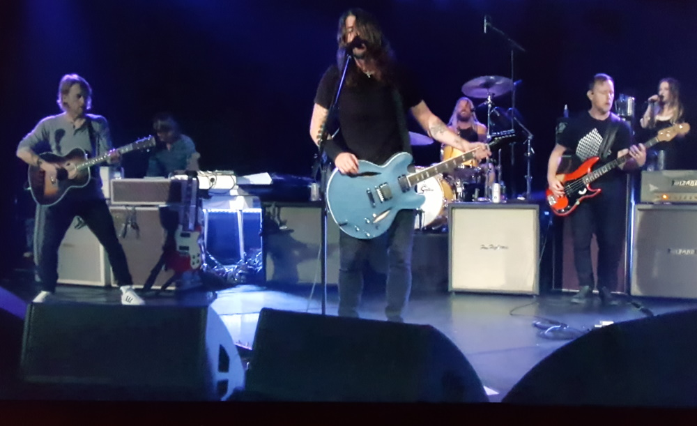 Foo Fighters on stage at The Roxy during livestream concert