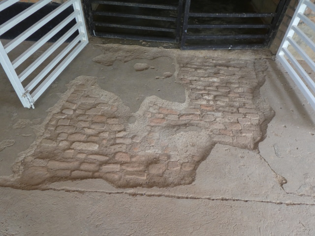 Grendades used at Nyamata Church in Rwanda during genocide shows ripped concrete
