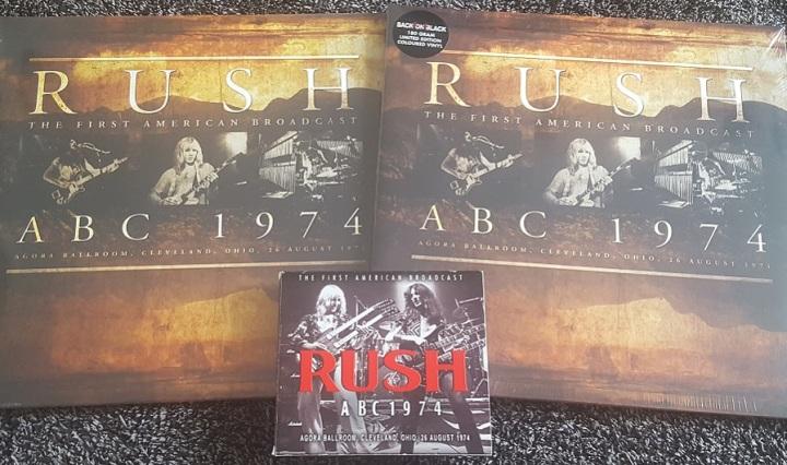 Rush ABC 1974 Album Covers