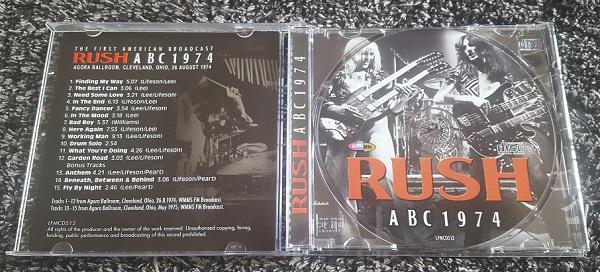 Rush ABC 1974 CD Jewel Case