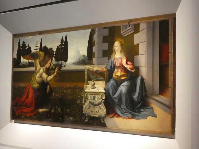The Annunciation by Leonardo da Vinci The Annunciation painting by Leonardo da Vinci