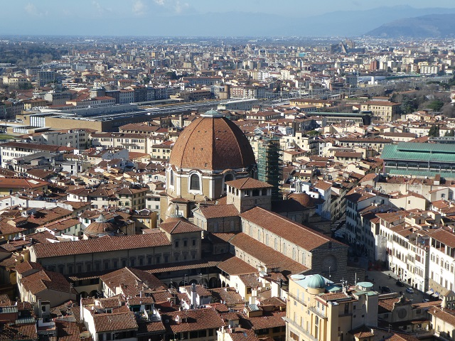 View of Florence, Italy from atop Brunelleschi's Dome