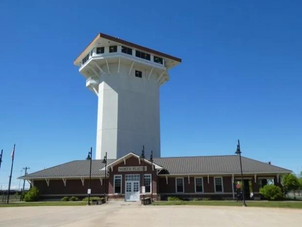 Golden Spike Tower at Bailey Yard in North Platte, NE