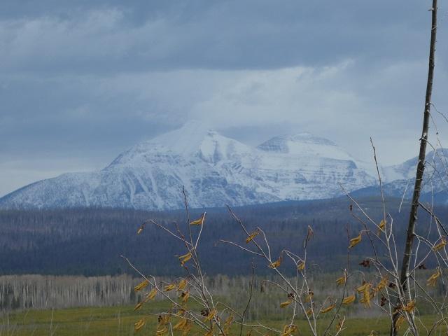 Mountain range near Glacier National park