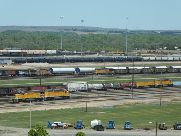 Lots of freight trains at Bailey Yard in North Platte, NE