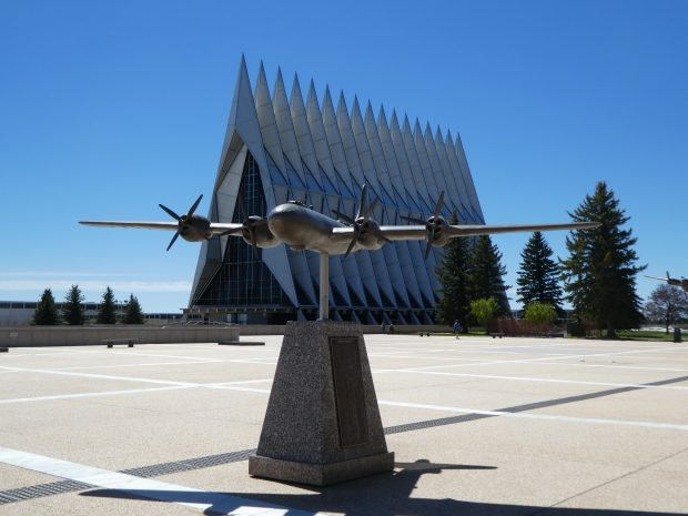 Model plane at United States Air Force Academy