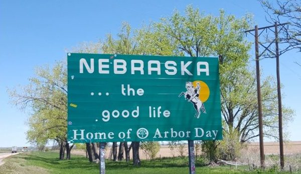 Welcome to Nebraska sign welcomes travelers