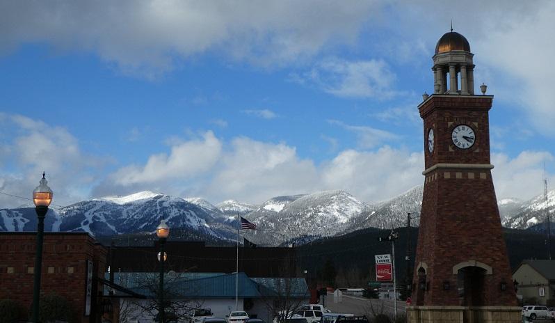 Belltowel in downtown Whitefish, Montana