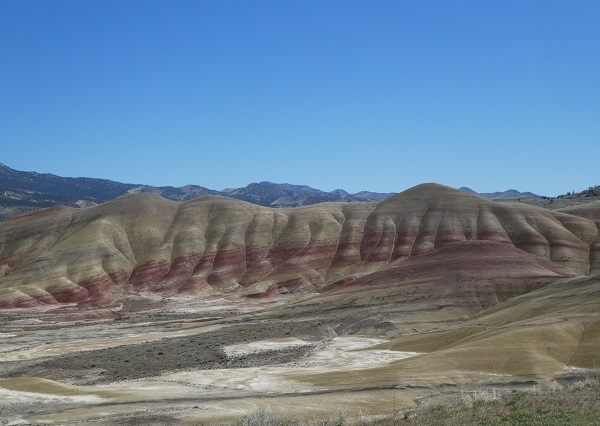 Scenic view of the Painted Hills
