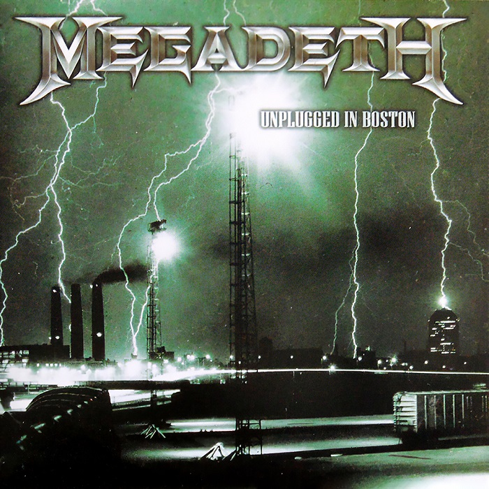 Album cover for Megadeth Unplugged in Boston
