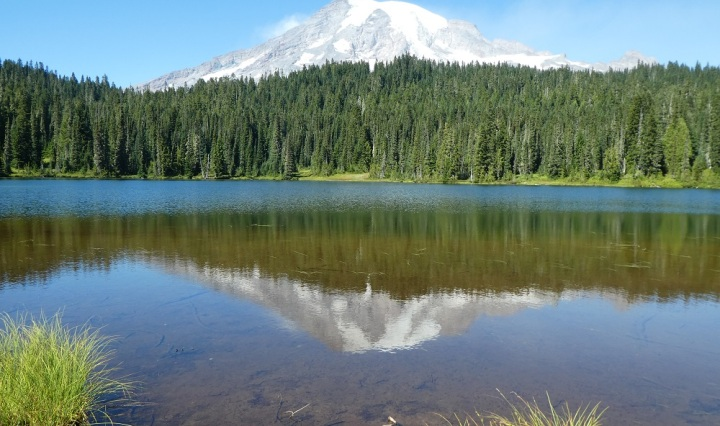 Reflection of Mount Rainer off Reflection Lakes