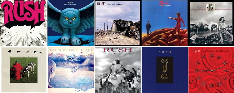 Album covers of the best Rush final tracks